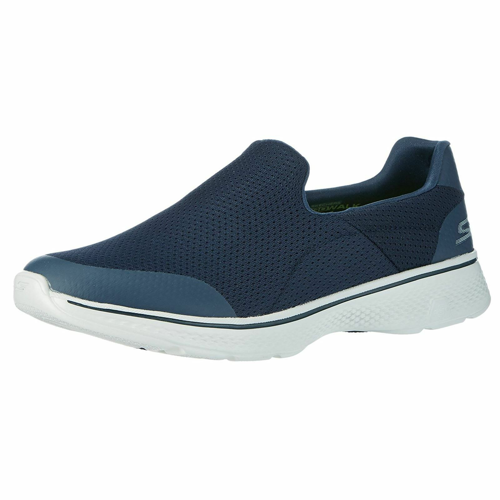 Skechers Go Walk 4 Incredible Navy Grey Mens Trainers Pumps Slip Comfortable and good-looking