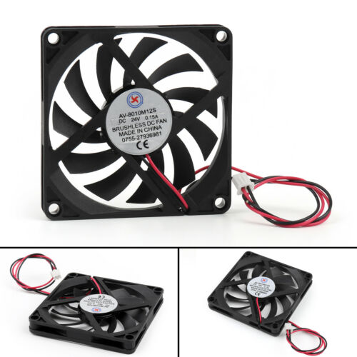 DC Brushless Cooling Fan 24V 0.15A 8010S 80x80x10mm 2 Pin CUP Computer Fan UE