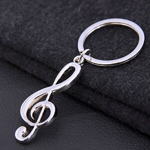 New Music Symbol Note G Treble Clef Pendant Keychain Key Chain Ring Fob GifR CR