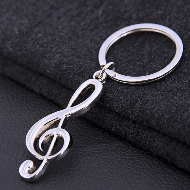 Music Symbol Note G Treble Clef Pendant Keychain Key Chain Ring Fob