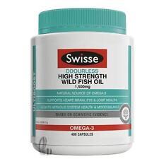 AU SELLER Swisse Odourless High Strength Wild FishOil 1500mg 400 Capsules he054