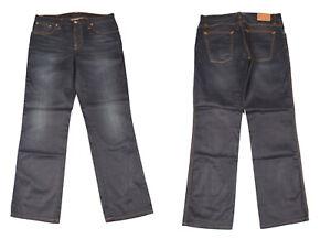 Nudie Slim Jim Glacier Bleu Indigo Jeans Jambe Droite Hommes Jean W36 L32