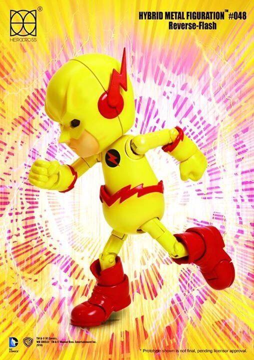 86 Hero 2017 herocross Hybrid Metal figuración  048 DC Comic Figura De Flash inversa