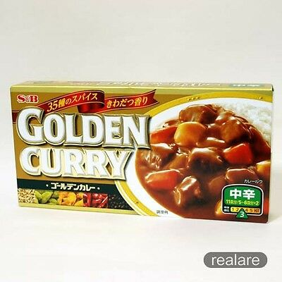 Golden Curry Japanese Curry Sauce Roux Block Medium Hot 198g S & B JAPAN