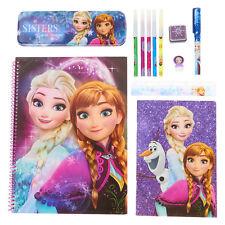 Disney Frozen Stationery Set Anna Elsa Pencils Pen Activity Set Journal New