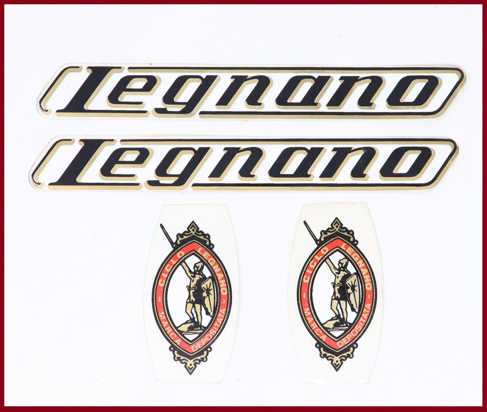 NOS ORIGINAL LEGNANO DECAL SET 70S 80S VINTAGE - DOWN TUBE SEAT + HEAD TUBE