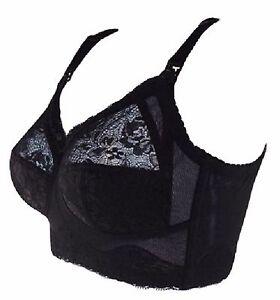 Allaitement-soutien-gorge-Bonnet-plein-Noir-Dentelle-Chair-bonnet-32E-34DD-F