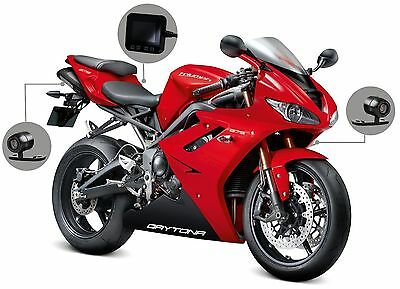 Motorcycle Mounted Biker Action Video Camera SYKIK C6L Front and Back