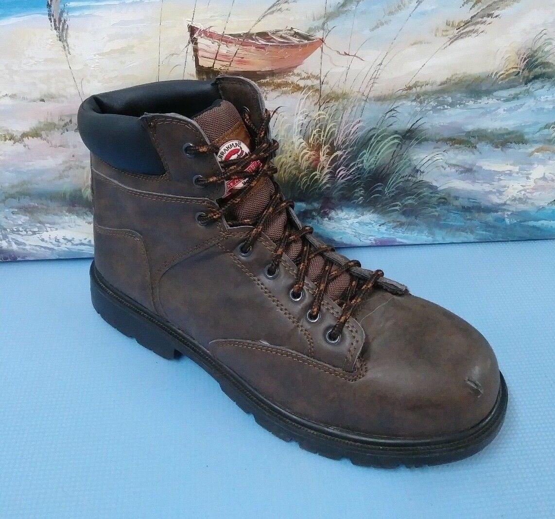 BRAHMA  Men's Work Steel Toe Size 13 M Brown and Black 28800794