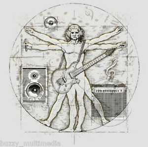 Davinci-Music-Guitar-Head-Phones-Funny-T-Shirt-Tee-Small-5X-plus-sizes