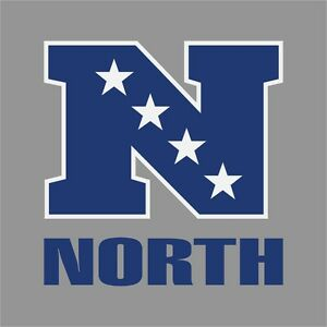 North nfl conference logo vinyl decal sticker car window wall cornhole