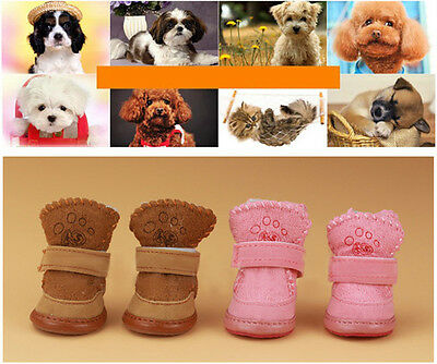 Fashion Warm Winter Cozy Pet Dog Boots Puppy Shoes 2 Color For Small Dog