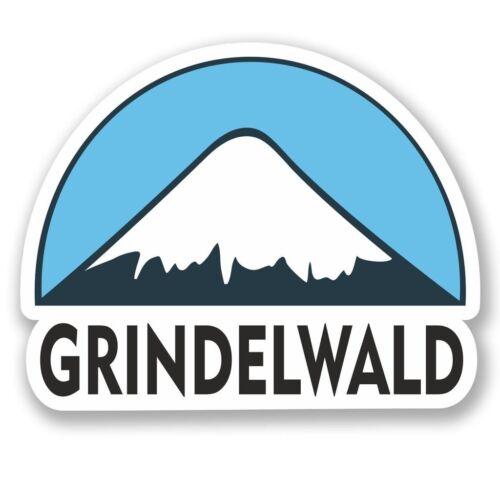 2 x Grindelwald Da Sci Snowboard Adesivo Vinile Portatile da Viaggio Bagaglio Auto #5145
