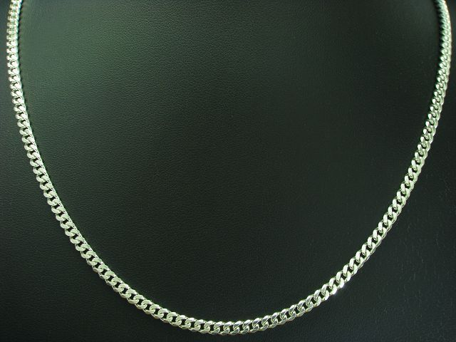 925 STERLING silver PANZERKETTE   ECHTsilver   45,5 cm   23,3g