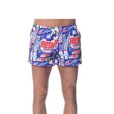 moschino mens red White Blue swim shorts size It 48 32 W