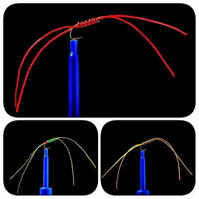Size 10 4 Legs 3 x Amber Apps Bloodworm Blood Worm Flexi Floss Fly Flies