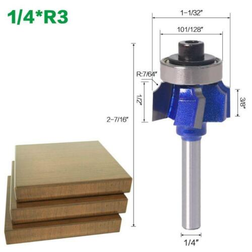 """1//4/"""" Shanks Router Bits 4 Teeth Edge Trimmer R1//R2//R3 Woodwork Milling Cutter"""