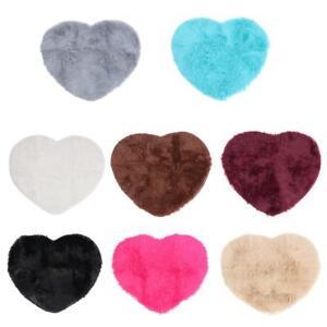 Love Heart Shaped Rug Bedroom Floor Mat Fluffy Bathroom Decoration Area Door