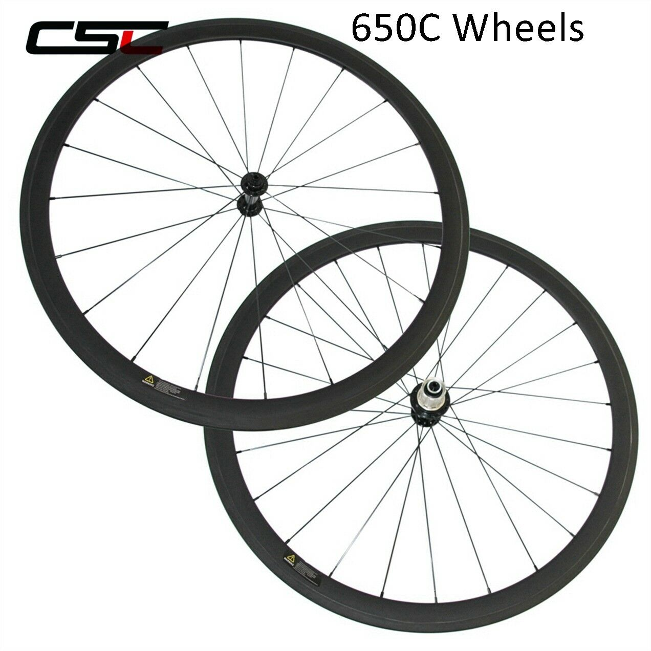 650C 50mm Clincher Tubeless Bike Carbon Road Bicycle Wheels Carbon Wheelset