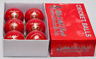 BLACK ASH PREMIER GRADE PACK OF 6 RED LEATHER CRICKET BALLS 156 GRAMS