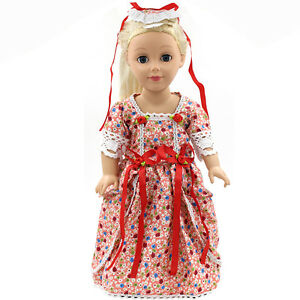 Hot Fits 18 Inch Doll 43cm Baby Dolls Handmade Fashion Doll Clothes Dress Ebay