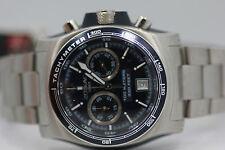 Mens Zodiac ZO7500 Super Sport Timer Blue Dial Chronograph Swiss Watch New Batt