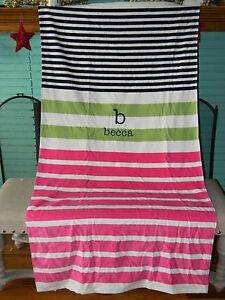 Pottery Barn Kids Beach Towel Personalized Monogrammed
