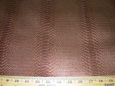 ~5 YDS~SNAKESKIN EMBOSSED FAUX LEATHER W BACKING UPHOLSTERY FABRIC FOR LESS~