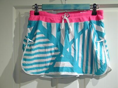 Blue/white/pink Skirt/skort Dri-fit 98-12041 28x11 Analytical Nike Women's Size S