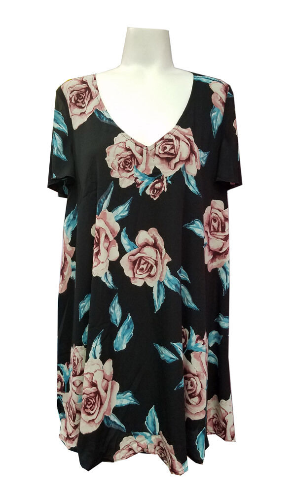 Show Me Your MuMu Ladies Flower Hour Short Sleeve Kylie Mini Dress NEW-M