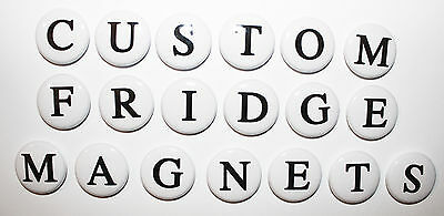 CUSTOM FRIDGE MAGNETS ANY LETTERS /& NUMBERS 25mm Gift /& Kitchen