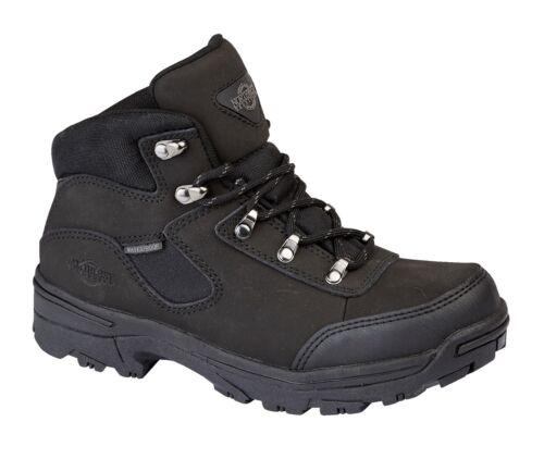Ladies Leather Lightweight Waterproof Ankle Boots Women Walking Hiking Boots Sz