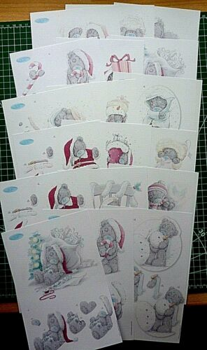 all different-6 packs to choose 6 x A5  tatty teddy XMAS decoupage