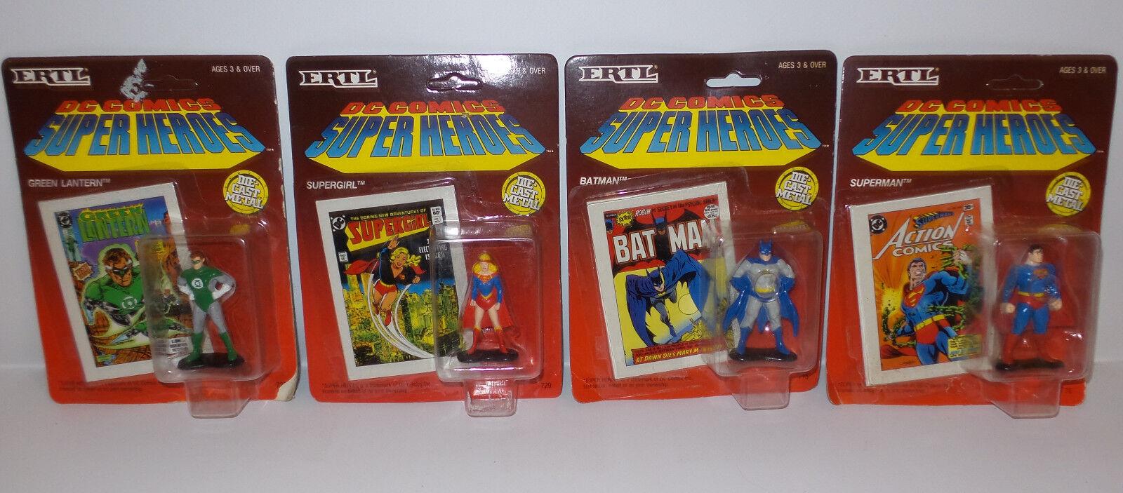 DC COMICS   Grün LANTERN, SUPERMAN, SUPERGIRL, BATMAN DIE CAST FIGURE SET