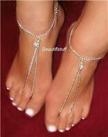 Lifestyle Slave Barefoot Sandals Submissive Flower Charm Thong Anklet Bracelet