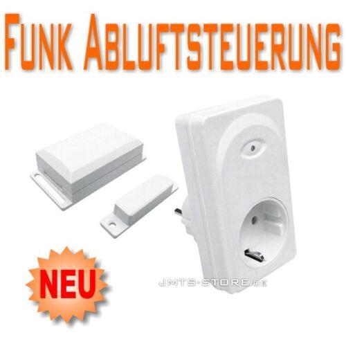 Universal Funk Abluftsteuerung mit Magnetkontakt Sender Dunstabzugshaube Fenster