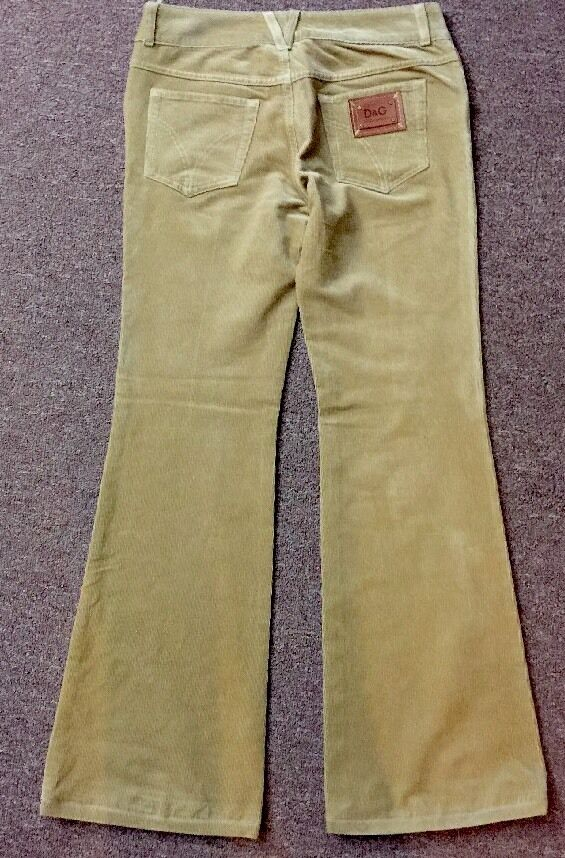 D&G Women Corduroy Jeans  Pants Flared Size 29