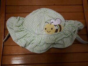 Gymboree baby Girls Hat bumble bee green stripes 0-3