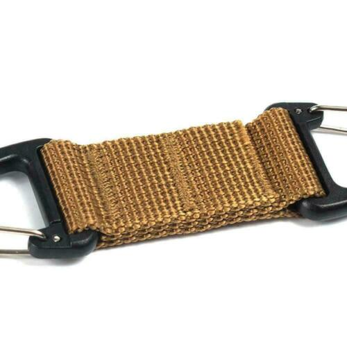 Military Key Hook Webbing Molle Buckle Outdoor Hanging Clip-Carabiner Prof R4Z4