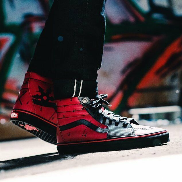 VANS X Marvel Avengers Sk8-hi Deadpool Black VN0A38GEUBJ W/box DS Mens 7.5