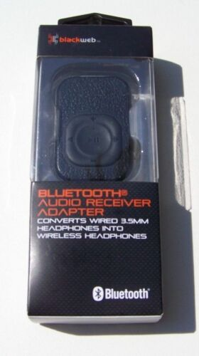 Blackweb Bluetooth Audio Receiver Adapter BWA18WI111 For Wired 3.5mm Headphones