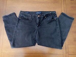 Lucky-Brand-14-32-Sofia-Skimmer-Skinny-Ankle-Black-Capri-Stretch-Jeans-35x24
