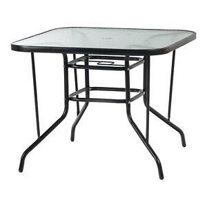 Garden Table Plastic 70cm Bistro Coffee Outdoor Weather White//Black Patio  Desk