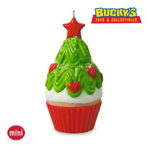 Tasty Tannenbaum 2016 Hallmark Mini Ornament Christmas Tree Cupcake