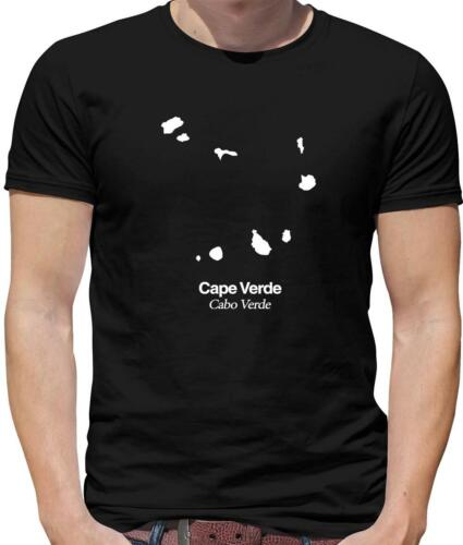 Africa Gift Country Silhouettes Cape Verde Mens T-Shirt Praia Cabo Verde
