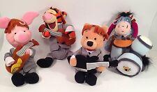 Disney 1964 BEATLES Beanie Baby Bean Bag Plush POOH, TIGGER, EEYORE, PIGLET MINT