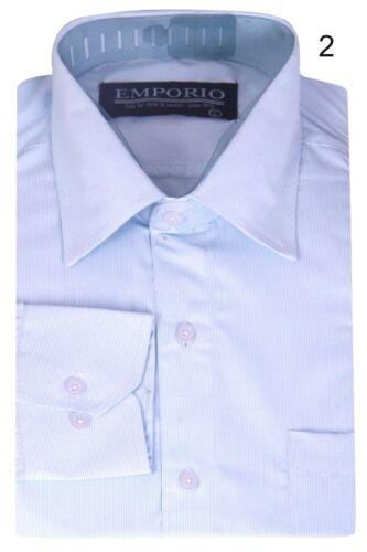 New Men/'s Emporio Long Sleeve Shirt  Smart Formal Casual