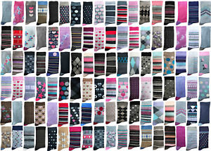 Ladies Jennifer Anderton Cotton Socks | Mystery Mix | 6,9,12,18 Pairs | Size 4-8