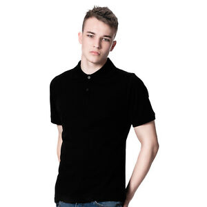 DANYEYI® Mens Plain Slim Fit Polo Indie T-Shirt Tee Black Or White ...