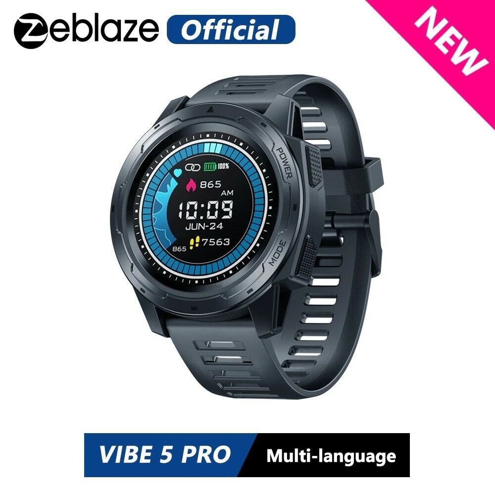 Zeb VIBE 5 PRO Color Touch Display Smartwatch Heart Rate Multi-sports Tracking